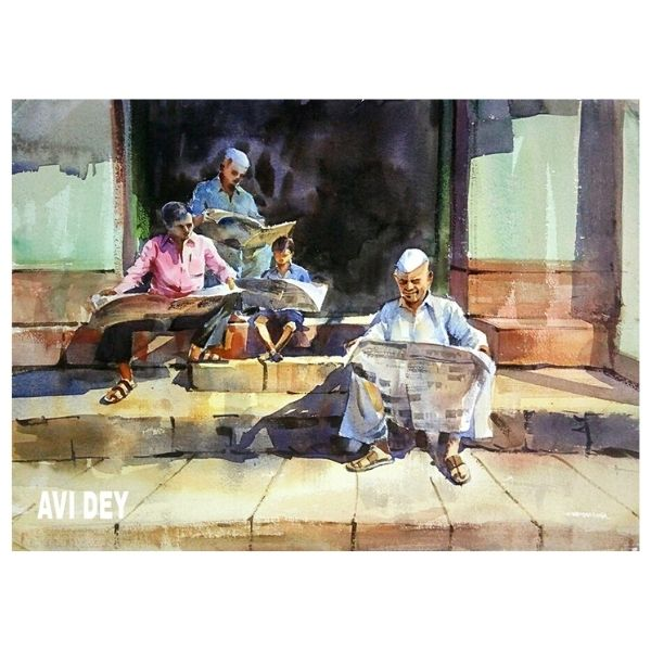 akd-2-watercolour-painting-by-amit-kumar-dey-size-a3