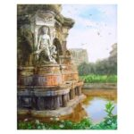 flora-fountain-acrylic-on-canvas-painting-by-vishal-wadaye-30x-24