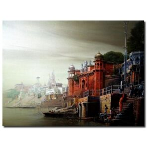 banaras-ghat-oil-on-canvas-by-amit-bhar-30x40