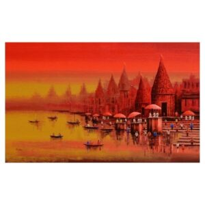 banaras-ghat-acrylic-on-canvas-painting-by-reba-mandal-30x48