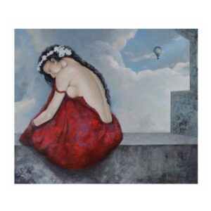 Woman Figurative Paintings - Award-Winning Collection-untitled-11-acrylic-on-canvas-painting-by-ashis-mondal-36x42