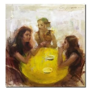 gossip-oil-on-linen-painting-by-surabhi-24x24