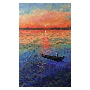 sunrise-2-acrylic-on-canvas-painting-by-shraddha-more-30x48