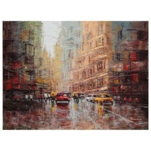 city-scape-oil-on-canvas-painting-by-by-purnendu-mandal-48x36