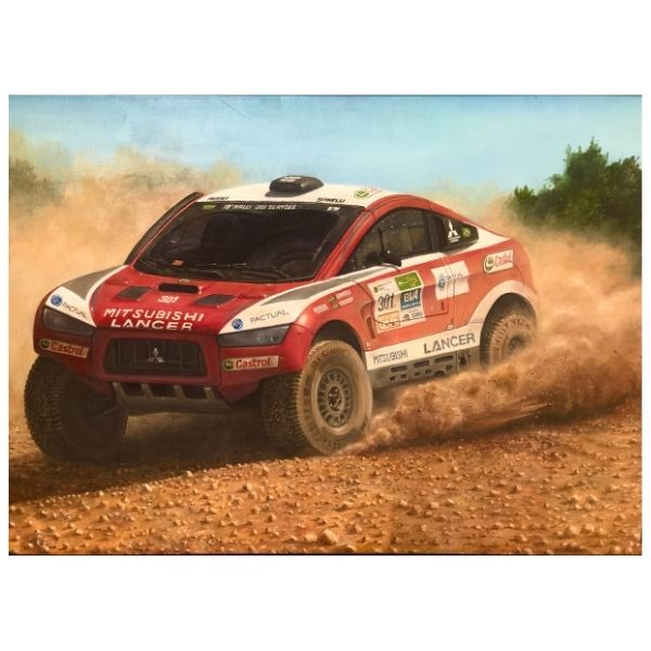 Rally Car | Oil Painting by Chikita Patel | 36x24