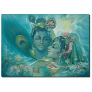 divine-love-oil-on-canvas-painting-by-laxman-kumar-33x45