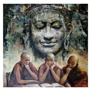 the-holy-monk-acrylic-on-canvas-painting-by-ranjit-sarkars-36x36