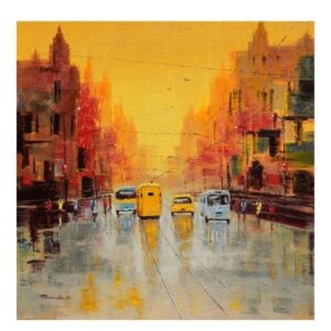 good-morning-kolkata-oil-on-canvas-by-purnendu-mandal-36x36
