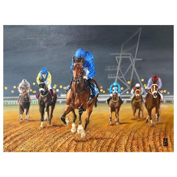 Horse Race -2 | Acrylic Painting by Chikita Patel | 50x34