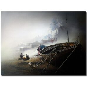 banaras-ghat-morning-oil-on-canvas-painting-by-amit-bhar-32x24