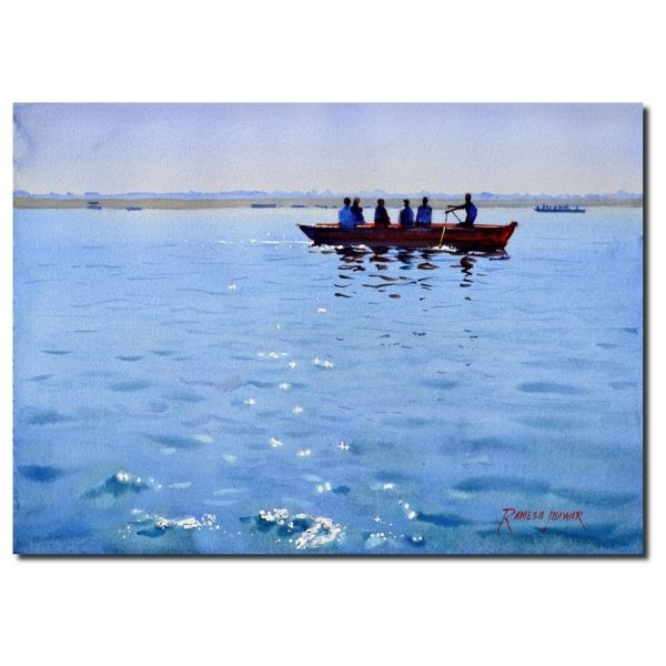 sparkling-ganges-watercolor-painting-by-ramesh-jhawar-10x14