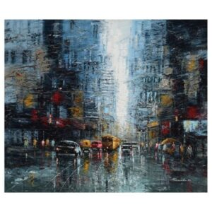 the-city-of-joy-oil-on-canvas-by-purnendu-mandal-42x36