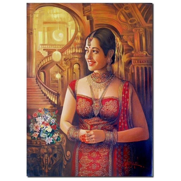 greetings-1-oil-on-canvas-painting-by-laxman-kumar-30x40