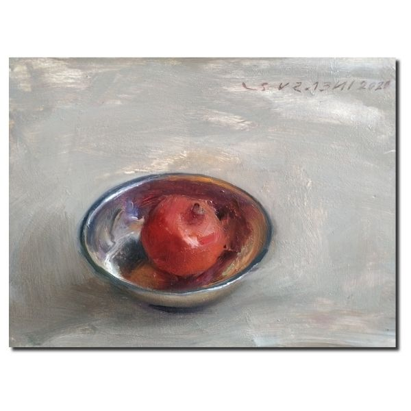 pomegranate-oil-on-board-by-surabhi-gulwelkar-9x11