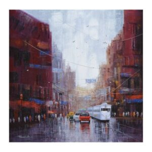 after-rain-in-kolkata-acrylic-on-canvas-by-purnendu-mandal-36x36