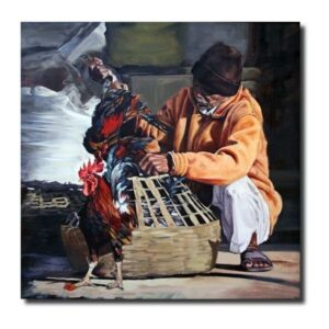 gladiator-oil-on-canvas-by-rajendra-dagade-36x36