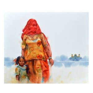 peaceful-relation-watercolor-painting-by-amit-dhane-30x34