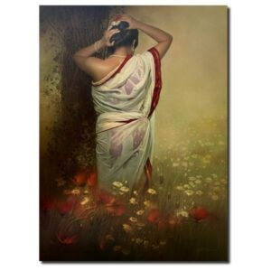 wet-lady-oil-on-canvas-painting-by-amit-bhar-36x48