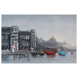banaras-ghat-acrylic-on-canvas-by-purnendu-mandal-24x36