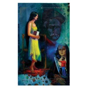 Beauty & Artist | Oil On Canvas Painting by Yogesh Sutar | 30x48