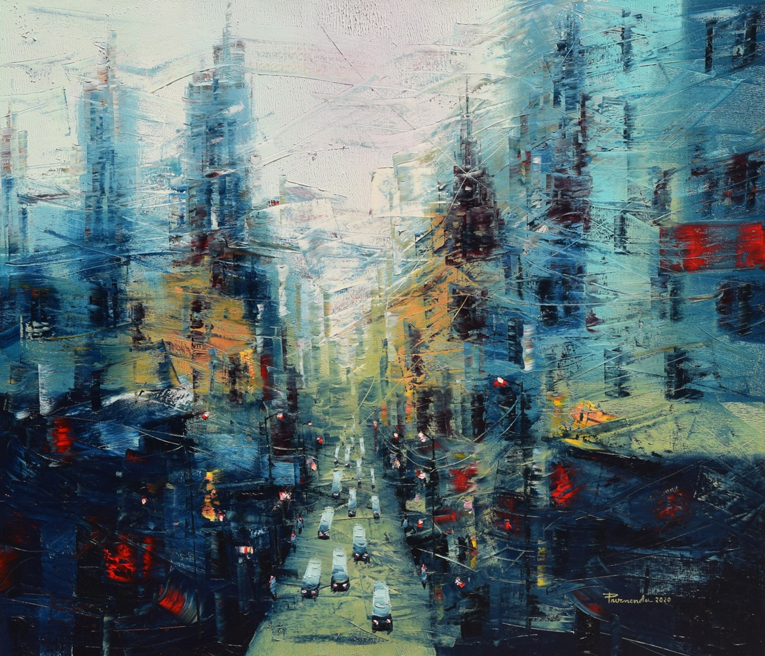 the-city-of-joy-oil-on-canvas-painting-by-by-purnendu-mandal-42x36