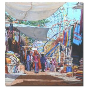 the-village-fare-oil-painting-by-ramdas-lobhi-48x44