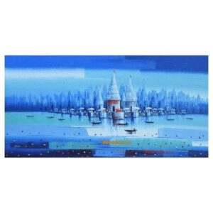 banaras-ghat-acrylic-on-canvas-painting-by-reba-mandal-36x72-2
