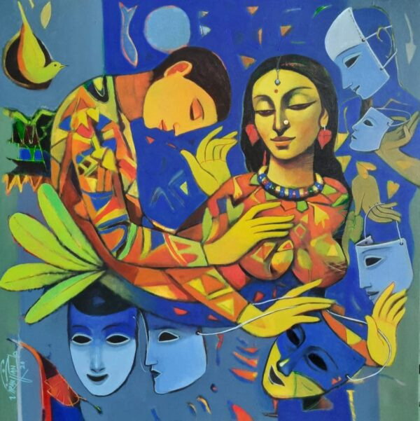 Acrylic On Canvas Painting by Ram Viranjan | 36×36