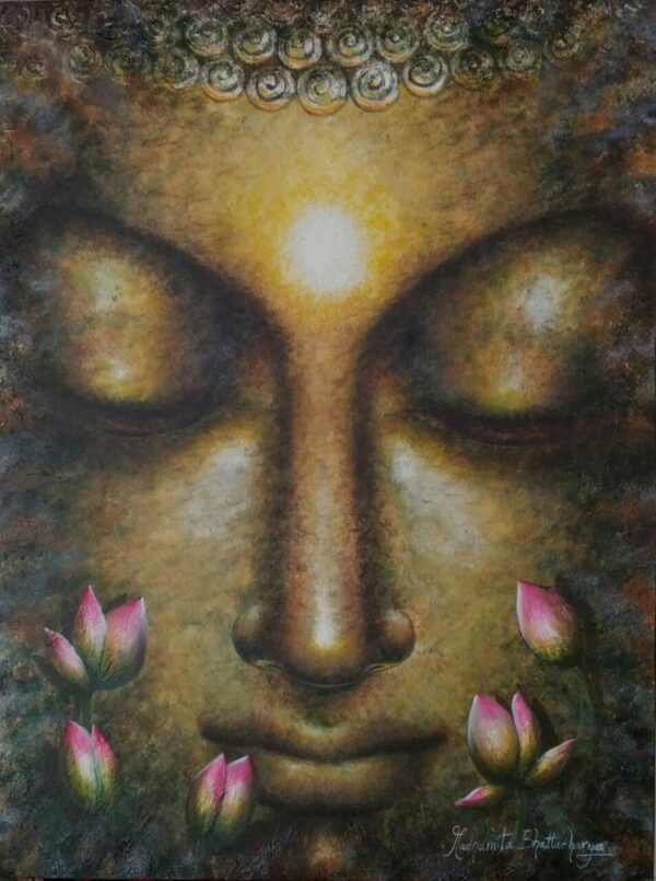 Dhyan Murti | Acrylic On Canvas Painting by Madhumita | 40×30