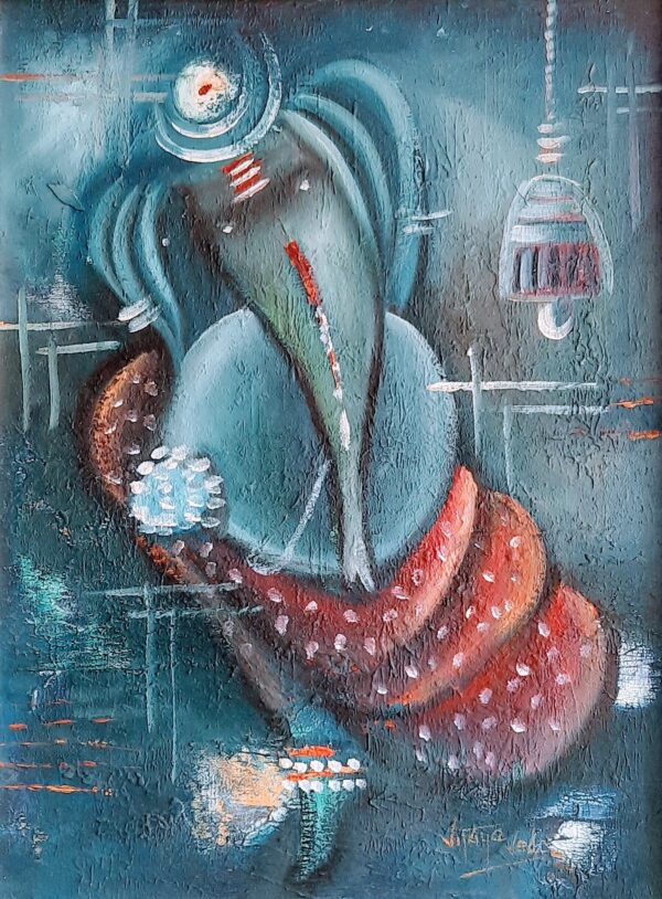 ganesha-v-oil-on-canvas-paintings-by-vijaya-ved-12x15
