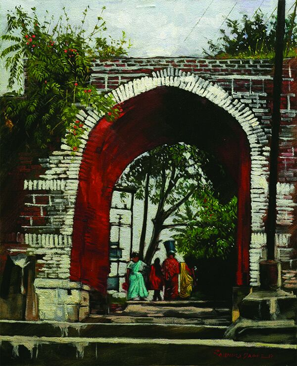 beyond-history-oil-on-canvas-by-rajendra-dagade-30x24