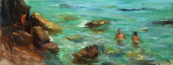 italian-sea-oil-on-linen-by-surabhi-gulwelkar-16x40