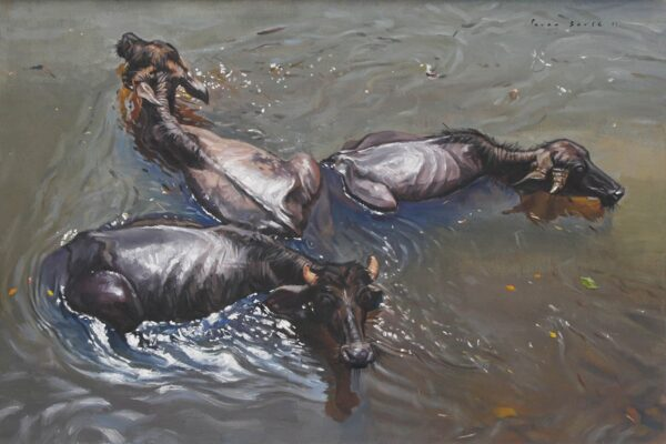 luxurious-pastime-oil-on-canvas-painting-by-parag-borse-24x36