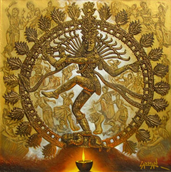 nataraja-lord-of-dance-oil-on-canvas-painting-by-laxman-kumar-40x40