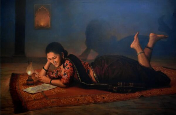 nostalgic-acrylic-on-canvas-painting-by-ramesh-nannware-48x72