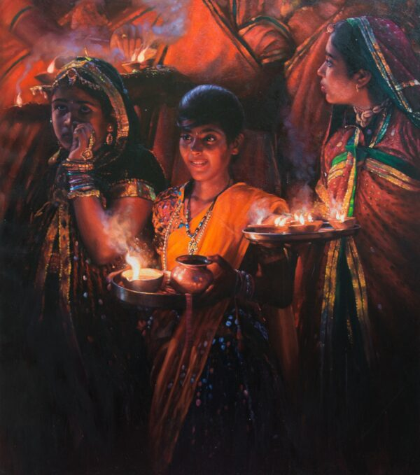 past-present-future-oil-painting-by-ramdas-lobhi-42x36