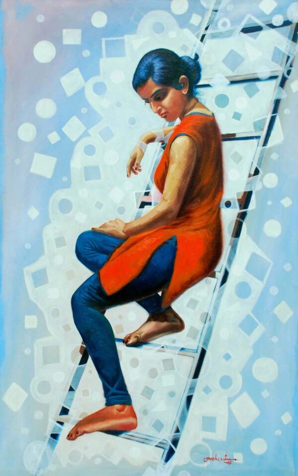 Separation 06 | Oil On Canvas Painting by Yogesh Sutar | 30x48