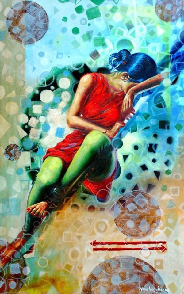 Separation 07 | Oil On Canvas Painting by Yogesh Sutar | 48x30