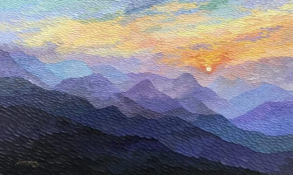 sunrise-acrylic-on-canvas-painting-by-shraddha-more-36x60