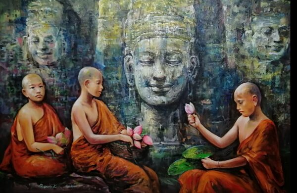 the-holy-monk-acrylic-on-canvas-painting-by-ranjit-sarkars-40x60