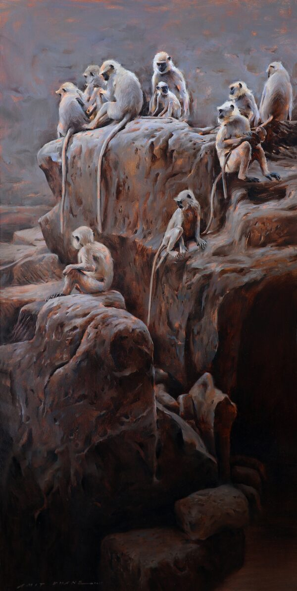 the-mischief-makers-oil-painting-by-amit-dhane-72x36