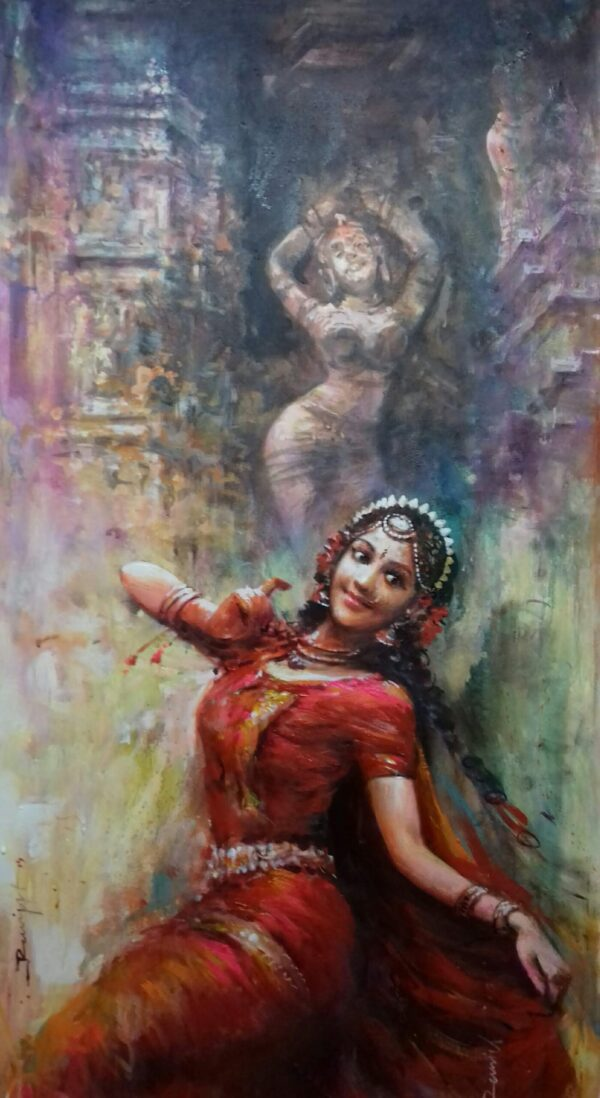 the-passage-of-devotion-acrylic-on-canvas-painting-by-ranjit-sarkars-30x60