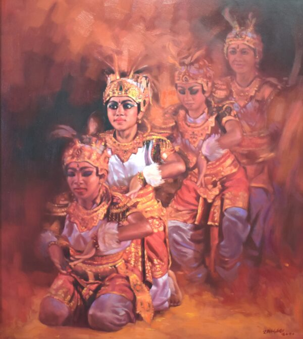 two-yet-one-oil-painting-by-ramdas-lobhi-36x36