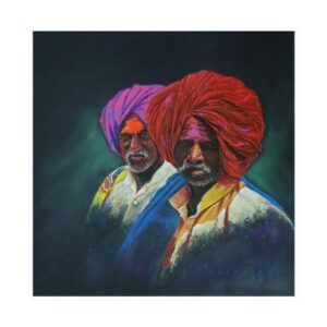 pilgrim-3-color-pencil-dry-pastel-artwork-by-parshuram-patil-22x22