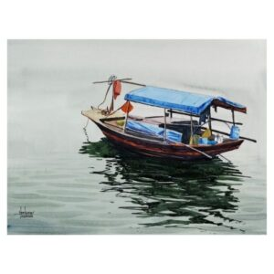 Vietnam Boat | Watercolor Painting by Hemkumar Topiwala | 15×11