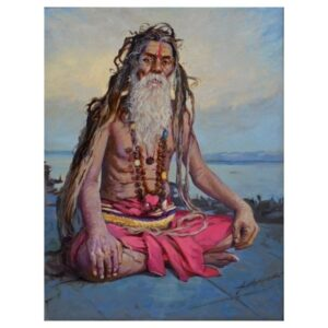 Indian sadhu | Acrylic Painting by Sanjau Dorlikar | 34×44