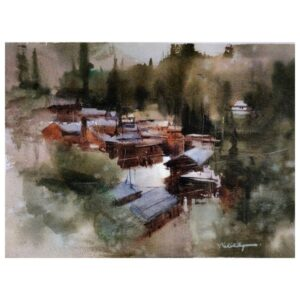 ISOLATED VILLAGE | Watercolor Painting | 8×12