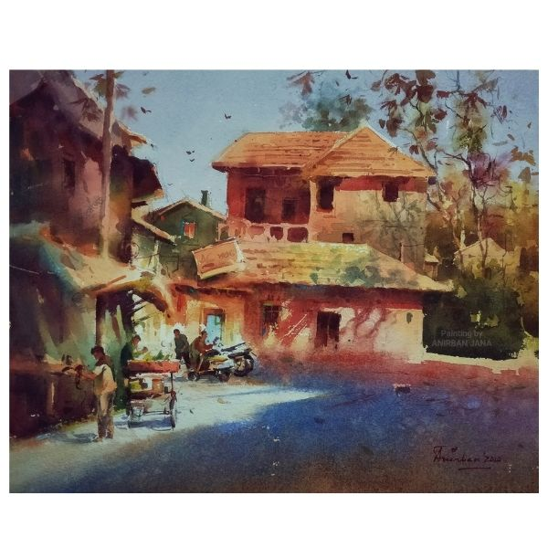 Aj -10 | Watercolor Painting by Anirban Jana | 11x15