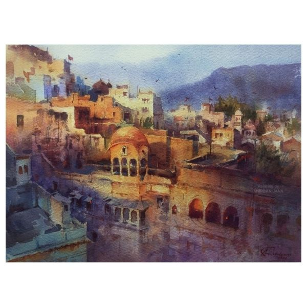 Aj -7 | Watercolor Painting by Anirban Jana | 11×15