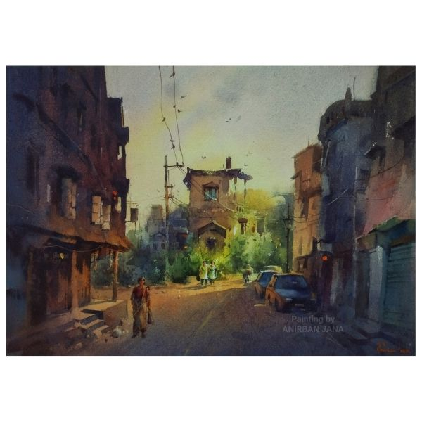 Aj -5 | Watercolor Painting by Anirban Jana | 10×14